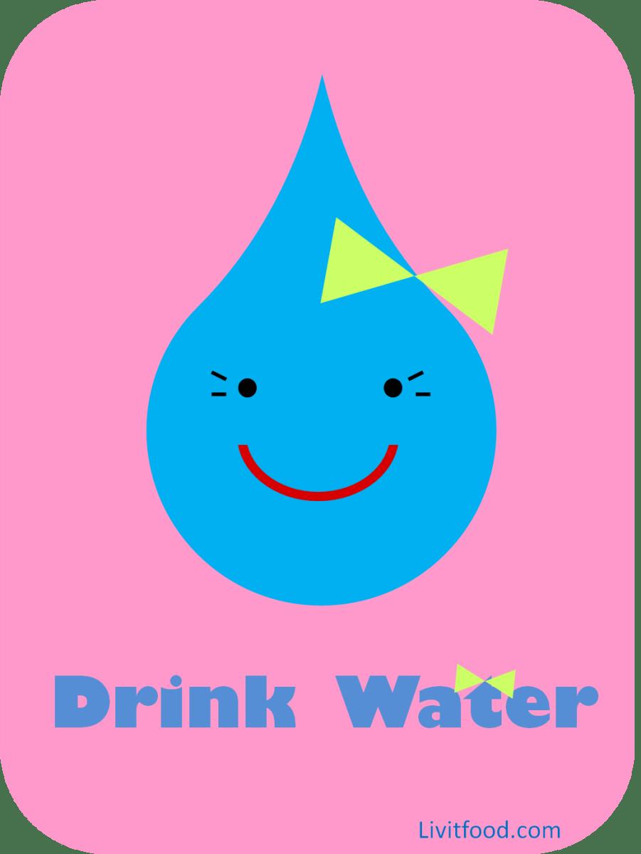 Drink Water Printable Poster 3 Livit