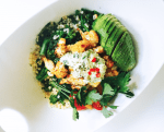 Pastina Salad with Roasted Cauliflower, Rapini and Creamy Cashew Vinaigrette