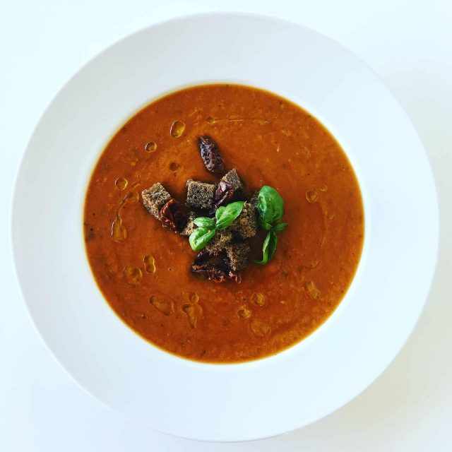 Sun-Dried Tomato and Basil Soup