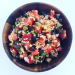 Millet Salad with Strawberries and Black Beans
