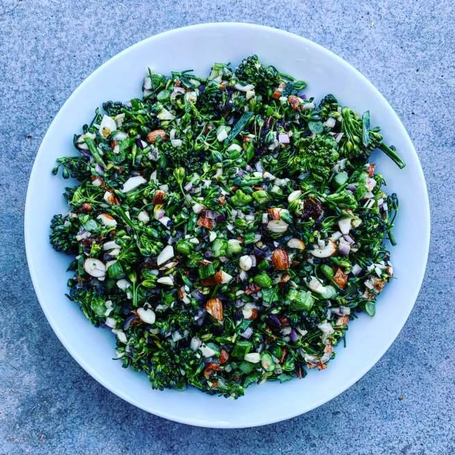 Broccolette Salad with Maple-Dijon Vinaigrette