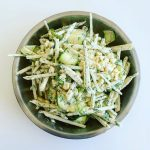Jicama Salad with Creamy Tahini and Dill Sauce