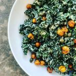 Kale Caesar with Chickpea Croutons TN