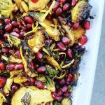 Spiced Brussels Sprouts with Pomegranate TN