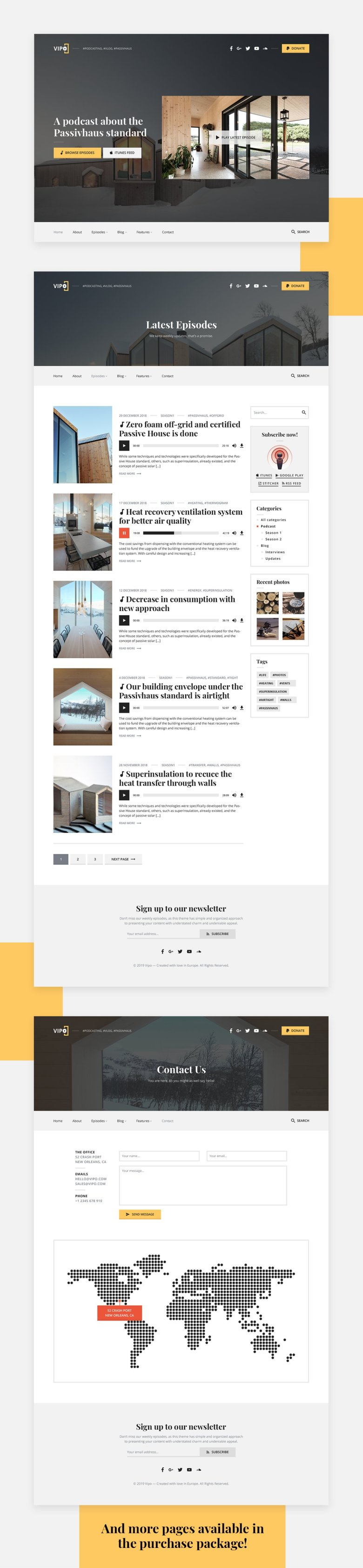 Vipo - Podcast PSD Template - 1