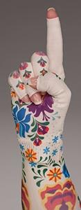 Flora kompressionshandske med fingre