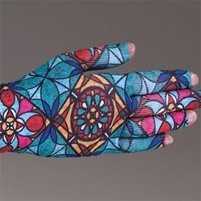 Tiffany kompressionshandske med fingre