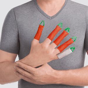 Dactyna fingre gør det lettere at tage kompressionshandsker på