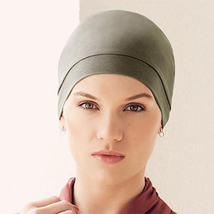 Olivenfarvet Laura hue fra Viva Headwear