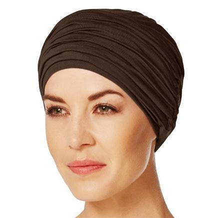 Karma turban hue mørkebrun
