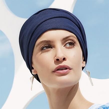 Zoya turban denim
