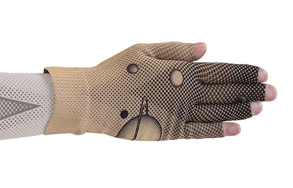 Discovery Beige kompressionshandske med 5 fingre