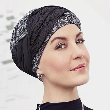 Flot Guna turban i klassisk design og ditto farver