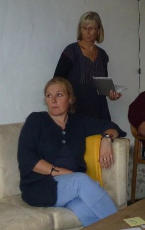 Solrun og Kirsten red