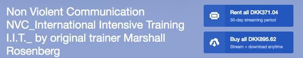 22 timers IVK-undervisning med Marshall Rosenberg