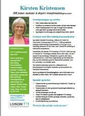 Kirsten Kristensen - IVK-profil og formand for LIVKOM