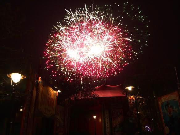 disney fireworks red