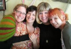 Rachel Awes, Lori Portka, Liv Lane, Carissa Paige - art sale on September 20, 2014