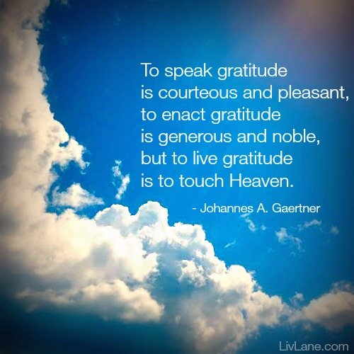 #gratitude quote - part of my post on losing my grandma, and what I found in her gratitude journal