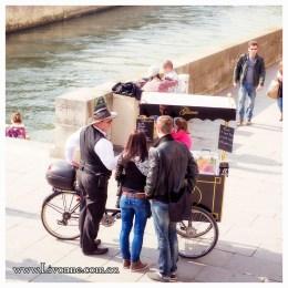 Ice cream tastes even better in Paris.