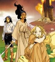 Illustration placée en couverture pour le livre La flamme d'Harabec d'Ange
