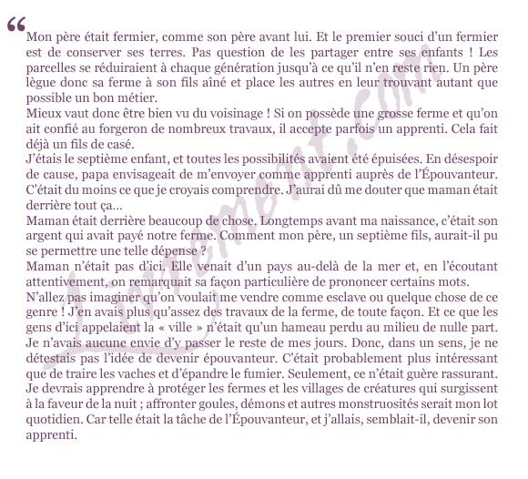 extrait l apprenti epouvanteur tome 1 Joseph Delaney