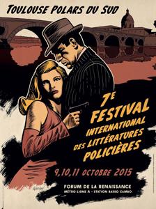 Affiche festival des litteratures policieres 2015
