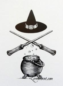 La cuisine des sorciers d'Aurélia Beaupommier iconographie