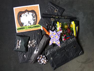 Petits cadeaux emballés pour Halloween