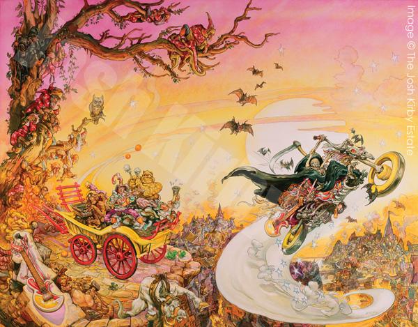Livre Accros du roc de Terry Pratchett avec l'illustation complète de Josh Kirby