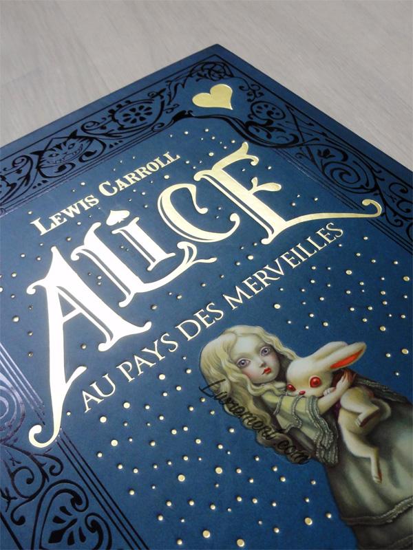 Détails couverture Alice au pays des merveilles de Benjamin Lacombe