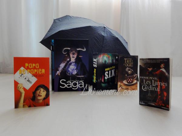 Photographie des livres lus durant le mois d'avril 2018 par le blog Livrement