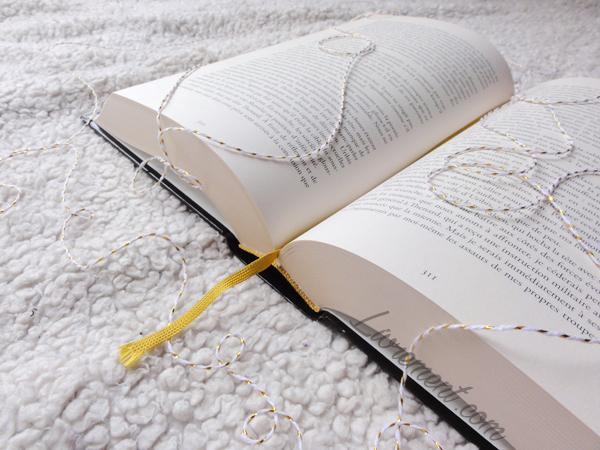 Photo d'un livre ouvert avec un signet doré pour souhaiter la bonne année 2018 blog Livrement