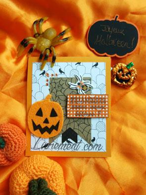 Challenge Halloween 2019 : carte envoyée à Delphine