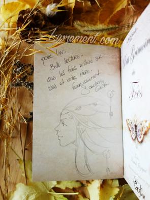 Dédicace du petit grimoire des fées de Sandrine Gestin