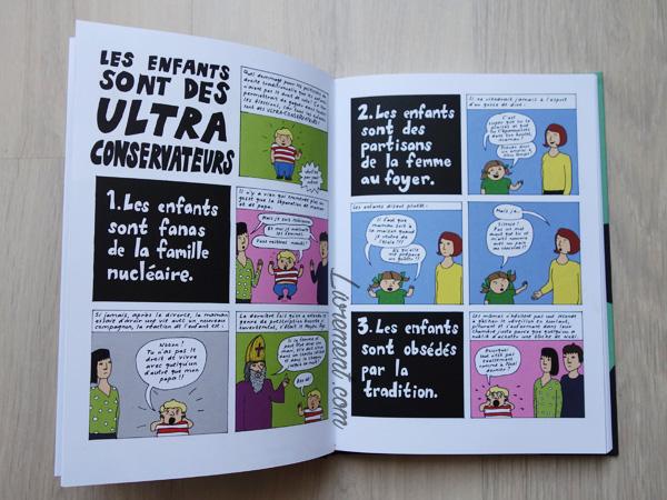 Livre I'm every woman de Liv Strömquist : page les enfants sont des ultra conservateurs