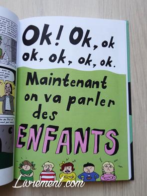 Livre I'm every woman de Liv Strömquist : page maintenant on va parler des enfants