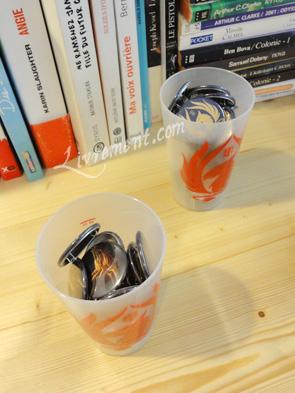Badges et gobelets du salon L'imagina'livres à Toulouse en 2018