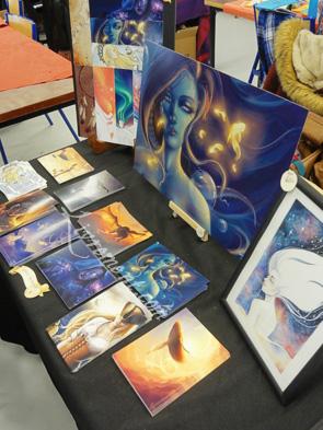 Stand de l'artiste Tiphs au salon L'imagina'livres à Toulouse en 2018