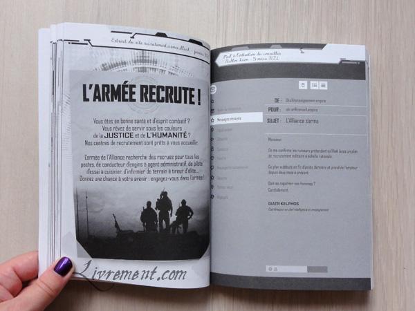 Extrait du site de recrutement dans le livre Kereban de Dario Alcide