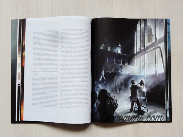 Photographie du livre L'appel de Cthulhu de Lovecraft, illustré par Baranger : illustration de l'atelier d'Henri Wilcox