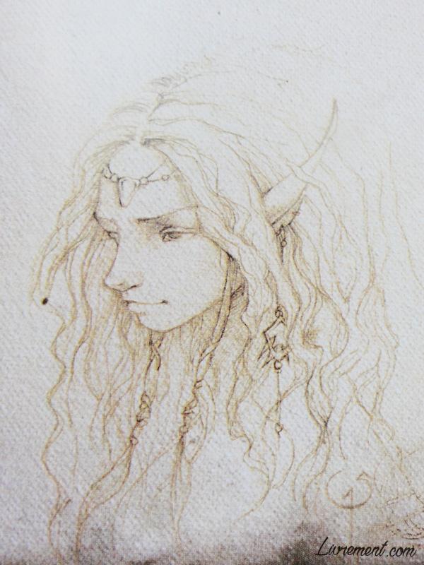 Croquis elfe de Sandrine Gestin dans son album La petite faiseuse