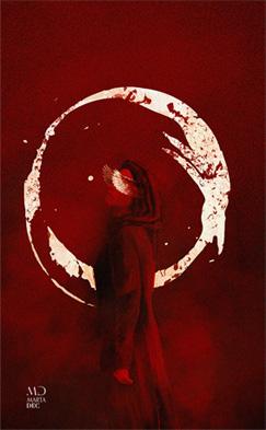 Fan art de la servante écarlate, roman d'Atwood