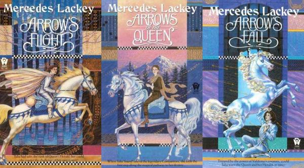 """Couvertures anglaises de la trilogie """"Les hérauts de Valdemar"""" de Mercedes Lackey"""