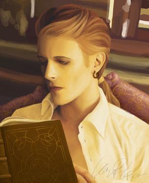 Portrait illustré de Sire Doré, personnage de Robin Hobb