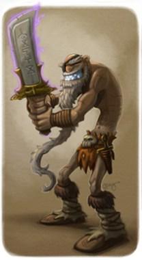 Illustration de Story Sabatino représentant Gengis Cohen, personnage du Disque-monde de Terry Pratchett