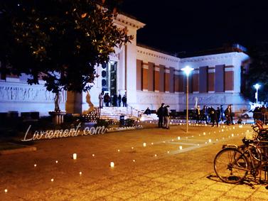 Chemin en bougies à la bibliothèque d'étude et du patrimoine de Toulouse pour la nuit de la lecture 2019