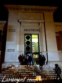 Entrée de la bibliothèque du Périgord pour la nuit de la lecture 2019