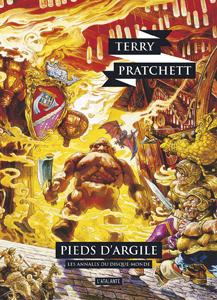 Couverture du roman pieds d'argile de Terry Pratchett, tome 19 des Annales du Disque-monde