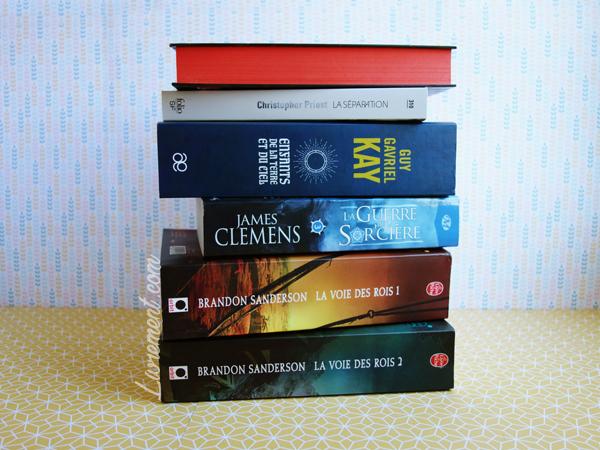 Pile de livres lus durant l'été 2018 / blog Livrement